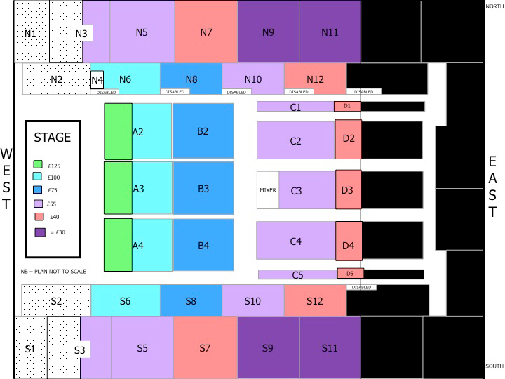 London Seating Plan