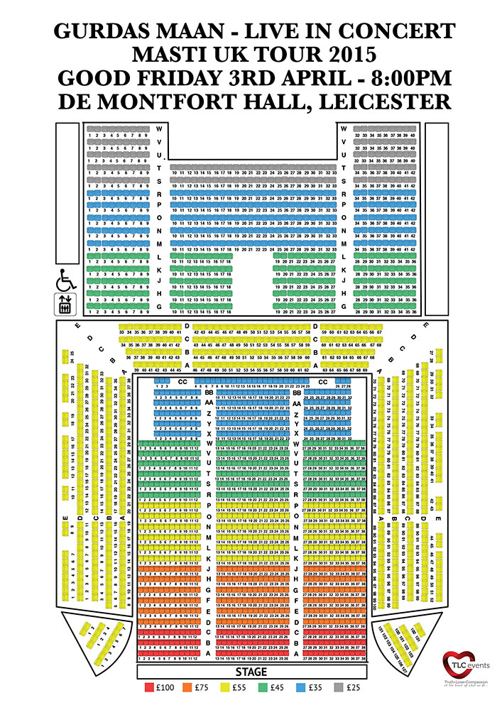 Leicester seating plan